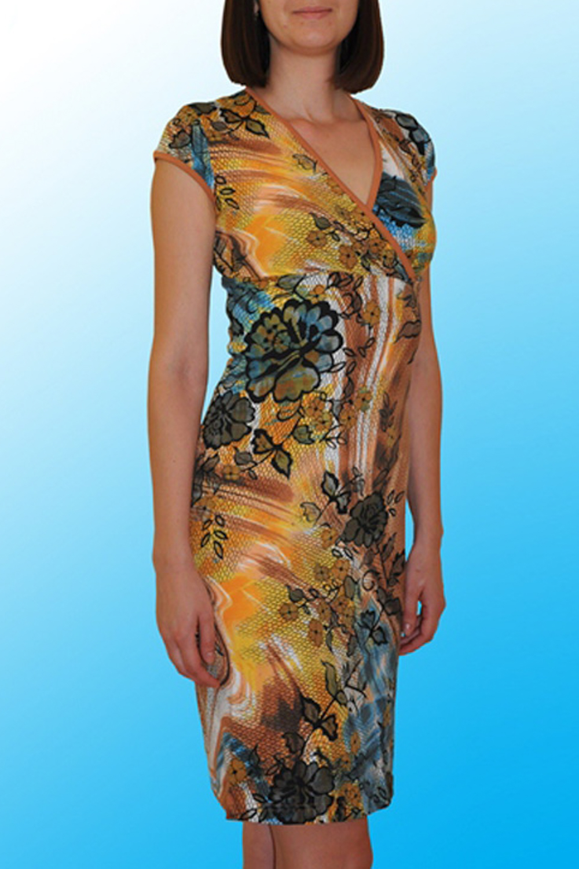 ПлатьеПлатья<br>Домашнее платье с короткими рукавами. Домашняя одежда, прежде всего, должна быть удобной, практичной и красивой. В нашей домашней одежде Вы будете чувствовать себя комфортно, особенно, по вечерам после трудового дня. Раскладка принта на ткани может отличаться от картинки.  Цвет: желтый, оранжевый, голубой, черный  Ростовка изделия 170 см.<br><br>Горловина: V- горловина,Запах<br>По рисунку: Цветные,С принтом<br>По сезону: Весна,Зима,Лето,Осень,Всесезон<br>По силуэту: Полуприталенные<br>Рукав: Короткий рукав<br>По длине: До колена<br>По материалу: Хлопок<br>По форме: Домашние платья<br>Размер : 50<br>Материал: Хлопок<br>Количество в наличии: 1