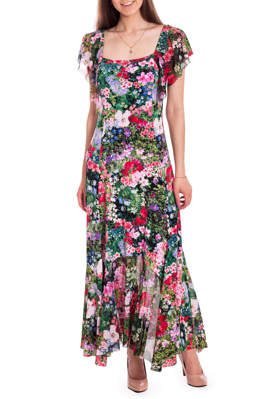 ПлатьеПлатья<br>Яркое платье с двумя вариантами горловины. Модель выполнена из приятного материала с цветочным принтом. Отличный выбор для любого случая.В изделии использованы цвета: зеленый, розовый и др.Рост девушки-фотомодели 170 см.Параметры размеров:42 размер - обхват груди 84 см., обхват талии 66 см., обхват бедер 90 см.44 размер - обхват груди 88 см., обхват талии 70 см., обхват бедер 94 см.46 размер - обхват груди 92 см., обхват талии 74 см., обхват бедер 98 см.48 размер - обхват груди 96 см., обхват талии 78 см., обхват бедер 102 см.50 размер - обхват груди 100 см., обхват талии 82 см., обхват бедер 106 см.52 размер - обхват груди 104 см., обхват талии 86 см., обхват бедер 110 см.54 размер - обхват груди 108 см., обхват талии 92 см., обхват бедер 116 см.56 размер - обхват груди 112 см., обхват талии 98 см., обхват бедер 122 см.58 размер - обхват груди 116 см., обхват талии 104 см., обхват бедер 128 см.60 размер - обхват груди 120 см., обхват талии 110 см., обхват бедер 134 см.62 размер - обхват груди 124 см., обхват талии 118 см., обхват бедер 140 см.64 размер - обхват груди 128 см., обхват талии 126 см., обхват бедер 146 см.66 размер - обхват груди 132 см., обхват талии 132 см., обхват бедер 152 см.68 размер - обхват груди 138 см., обхват талии 140 см., обхват бедер 158 см.Ростовка изделия 164 см.<br><br>Горловина: Квадратная горловина<br>Рукав: Короткий рукав<br>Длина: Макси<br>Материал: Гипюровая сетка,Трикотаж<br>Рисунок: Растительные мотивы,С принтом,Цветные,Цветочные<br>Сезон: Весна,Всесезон,Зима,Лето,Осень<br>Силуэт: Полуприталенные<br>Стиль: Летний стиль,Нарядный стиль,Повседневный стиль<br>Форма: Платье - трапеция<br>Элементы: С воланами и рюшами,С декором,С фигурным низом<br>Размер : 44<br>Материал: Холодное масло + Гипюровая сетка<br>Количество в наличии: 1