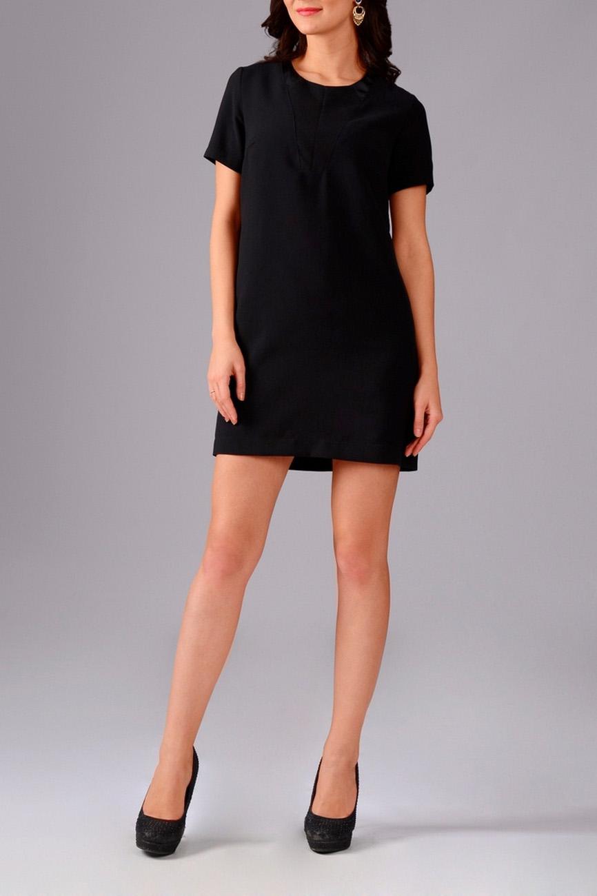 ПлатьеПлатья<br>Классическое женское платье-туника с короткими рукавами и округлой горловиной. Изделие станет стильным дополнением к Вашему гардеробу.   Цвет: черный.  Рост девушки-фотомодели 170 см<br><br>Горловина: С- горловина<br>По длине: Мини,До колена<br>По материалу: Тканевые<br>По рисунку: Однотонные<br>По сезону: Весна,Осень<br>По силуэту: Полуприталенные<br>По стилю: Кэжуал,Молодежный стиль,Повседневный стиль<br>Рукав: Короткий рукав<br>По форме: Платье - трапеция<br>Размер : 42,46,48<br>Материал: Плательная ткань<br>Количество в наличии: 3