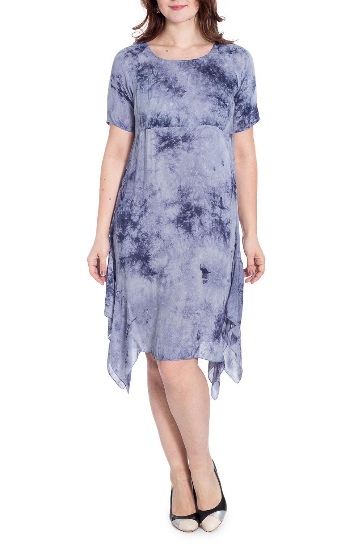ПлатьеПлатья<br>Универсальное платье свободного силуэта. Модель выполнена из хлопкового материала. Отличный выбор для любого случая.  В изделии использованы цвета: голубой, синий  Рост девушки-фотомодели 180 см.<br><br>Горловина: С- горловина<br>По длине: Ниже колена<br>По материалу: Тканевые,Хлопок<br>По образу: Город,Свидание<br>По рисунку: С принтом,Цветные<br>По силуэту: Свободные<br>По стилю: Повседневный стиль<br>По форме: Платье - трапеция<br>По элементам: С фигурным низом<br>Рукав: До локтя<br>По сезону: Лето<br>Размер : 48-50,50-52,52-54<br>Материал: Плательная ткань<br>Количество в наличии: 3