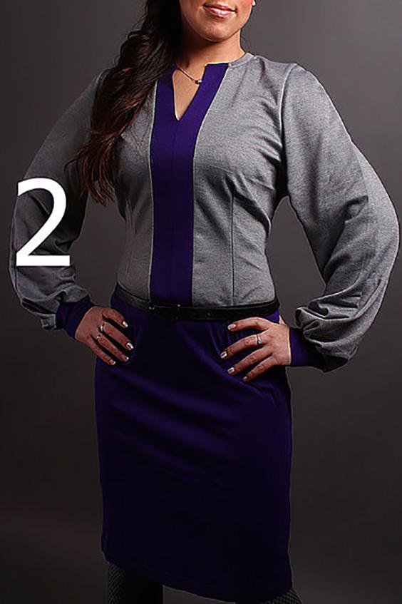 ПлатьеПлатья<br>Великолепное платье с фигурной горловиной и длинными рукавами на манжете. Модель выполнена из плотного трикотажа. Отличный выбор для повседневного гардероба. Платье без пояса.  В изделии использованы цвета: серый, фиолетовый  Ростовка изделия 170 см.<br><br>Горловина: Фигурная горловина<br>По длине: До колена<br>По материалу: Трикотаж<br>По рисунку: Цветные<br>По силуэту: Полуприталенные<br>По стилю: Повседневный стиль<br>По форме: Платье - футляр<br>По элементам: С манжетами<br>Рукав: Длинный рукав<br>По сезону: Зима<br>Размер : 46-48<br>Материал: Трикотаж<br>Количество в наличии: 1