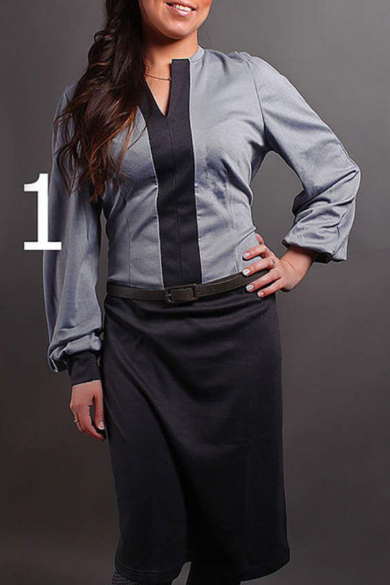ПлатьеПлатья<br>Великолепное платье с фигурной горловиной и длинными рукавами на манжете. Модель выполнена из плотного трикотажа. Отличный выбор для повседневного гардероба. Платье без пояса.  В изделии использованы цвета: темно-серый, серо-сиреневый  Ростовка изделия 170 см.<br><br>Горловина: Фигурная горловина<br>По длине: До колена<br>По материалу: Трикотаж<br>По рисунку: Цветные<br>По силуэту: Полуприталенные<br>По стилю: Повседневный стиль<br>По форме: Платье - футляр<br>По элементам: С манжетами<br>Рукав: Длинный рукав<br>По сезону: Зима<br>Размер : 42-44<br>Материал: Трикотаж<br>Количество в наличии: 1