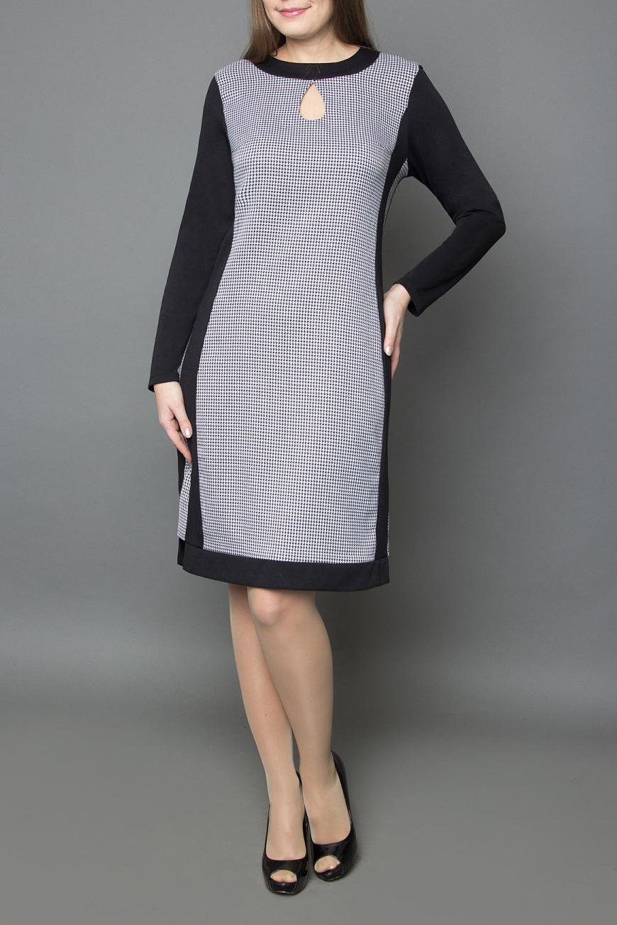 ПлатьеПлатья<br>Молодежное женское платье приталенного силуэта, застежка расположена сзади по средне шву на потайную тесьму молнию. Великолепный офисный и повседневный вариант, благодаря прекрасному сочетанию тканей их составу и отличной посадке. Элегантный вырез в виде капли спереди, не только украшает платье, но и выделяет его из массы других вариантов, делая его ещё больше привлекательным для покупательниц.   Цвет: черный, белый  Ростовка изделия 170 см.<br><br>Горловина: С- горловина<br>По длине: До колена<br>По материалу: Вискоза,Тканевые<br>По рисунку: Цветные,В клетку,С принтом<br>По сезону: Зима<br>По силуэту: Полуприталенные<br>По стилю: Повседневный стиль,Офисный стиль<br>Рукав: Длинный рукав<br>По форме: Платье - футляр<br>По элементам: С декором,С молнией<br>Размер : 44,46<br>Материал: Плательная ткань<br>Количество в наличии: 3