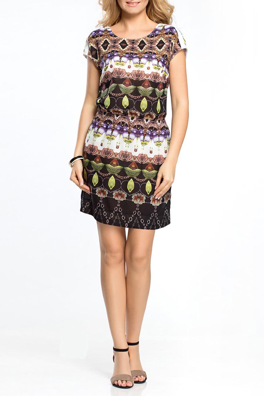 ПлатьеПлатья<br>Цветное платье с короткими рукавами. Модель выполнена из приятного материала с подкладом. Отличный выбор для повседневного гардероба.Цвет: мультицветРостовка изделия 170 см.<br><br>Горловина: С- горловина<br>Рукав: Короткий рукав<br>Длина: До колена<br>Материал: Шифон<br>Рисунок: С принтом,Цветные<br>Сезон: Лето<br>Силуэт: Полуприталенные<br>Стиль: Повседневный стиль<br>Размер : 44,46,48,50<br>Материал: Шифон<br>Количество в наличии: 7