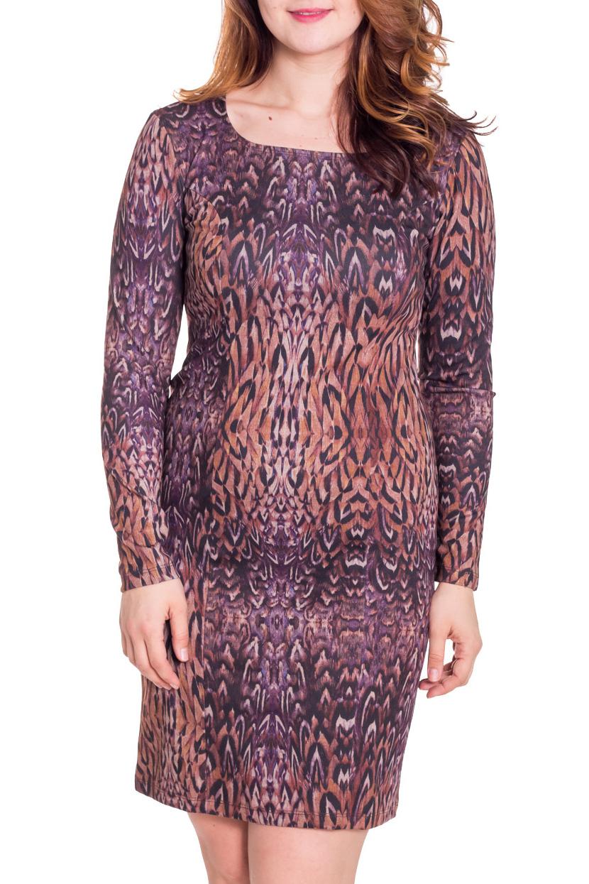 ПлатьеПлатья<br>Прекрасное платье с круглой горловиной и длинными рукавами. Модель полуприталенного силуэта, выполнена из плотного трикотажа. Отличный выбор для повседневного гардероба.  Цвет: фиолетовый, оранжевый  Рост девушки-фотомодели 180 см.<br><br>По образу: Свидание,Город<br>По стилю: Повседневный стиль<br>По материалу: Вискоза,Трикотаж<br>По рисунку: Абстракция,Цветные<br>По сезону: Зима<br>По силуэту: Полуприталенные<br>По форме: Платье - футляр<br>По длине: До колена<br>Рукав: Длинный рукав<br>Горловина: С- горловина<br>Размер: 52<br>Материал: 65% вискоза 25% полиэстер 10% эластан<br>Количество в наличии: 1