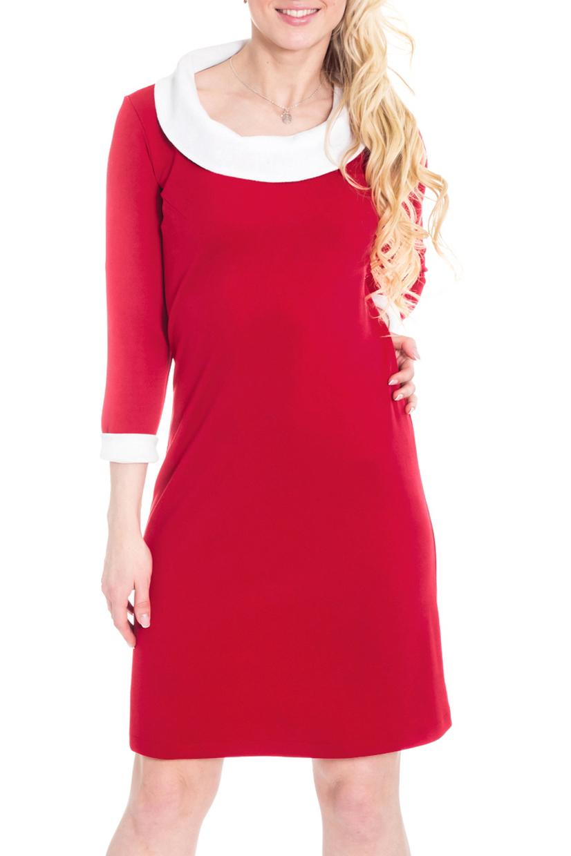 ПлатьеПлатья<br>Прелестное женское платье, которое станет идеальным дополнением к Вашему повседневному гардеробу. Застежка - молния и пуговица.  Цвет: красный, белый.  Рост девушки-фотомодели 170 см<br><br>Воротник: Отложной,Стояче-отложной<br>По длине: До колена<br>По материалу: Трикотаж<br>По рисунку: Однотонные<br>По силуэту: Полуприталенные<br>По стилю: Повседневный стиль<br>По форме: Платье - футляр<br>По элементам: С воротником,С декором,С манжетами,С молнией<br>Рукав: Рукав три четверти<br>По сезону: Осень,Весна,Зима<br>Размер : 44,48,50,52<br>Материал: Трикотаж<br>Количество в наличии: 9