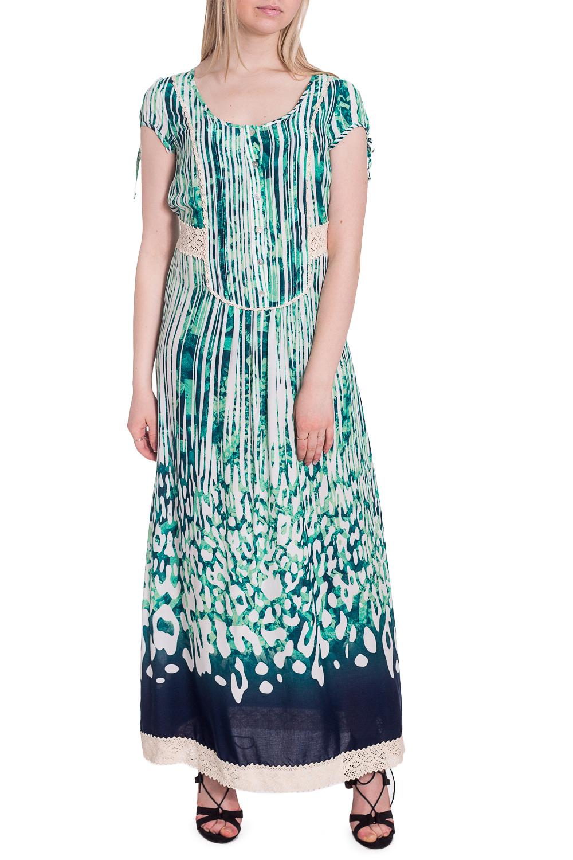 ПлатьеПлатья<br>Цветное платье с круглой горловиной и короткими рукавами. Модель выполнена из приятного материала. Отличный выбор для любого случая.  В изделии использованы цвета: молочный, зеленый, синий и др.  Рост девушки-фотомодели 170 см<br><br>Горловина: С- горловина<br>По длине: Макси<br>По материалу: Вискоза<br>По рисунку: С принтом,Цветные<br>По силуэту: Полуприталенные<br>По стилю: Летний стиль,Повседневный стиль<br>По форме: Платье - трапеция<br>По элементам: С декором<br>Рукав: Короткий рукав<br>По сезону: Лето<br>Размер : 42,44,46,48<br>Материал: Вискоза<br>Количество в наличии: 4