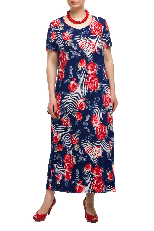 ПлатьеПлатья<br>Яркое платье прямого кроя - это дивный вариант на лето. Платье с округлым вырезом горловины и короткими рукавами. Украшена модель контрастным рисунком.  Цвет: синий, красный, белый.   Рост девушки-фотомодели 173 см<br><br>Горловина: С- горловина<br>По длине: Макси,Миди<br>По материалу: Трикотаж<br>По рисунку: Растительные мотивы,С принтом,Цветные,Цветочные<br>По силуэту: Прямые,Свободные<br>По стилю: Летний стиль,Повседневный стиль<br>Рукав: Короткий рукав<br>По сезону: Лето<br>По форме: Платье - трапеция<br>Размер : 52<br>Материал: Холодное масло<br>Количество в наличии: 2
