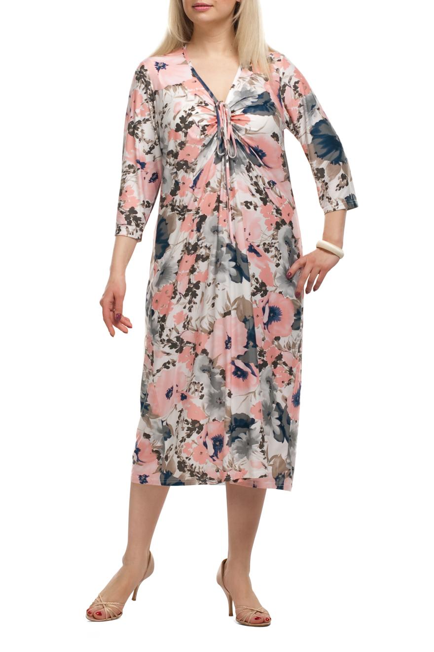 ПлатьеПлатья<br>Милое платье прямого силуэта с короткими рукавами. Модель выполнена из струящегося трикотажа с цветочным принтом. Отличный выбор для любого случая.   Цвет: белый, серый, коралловый, синий  Рост девушки-фотомодели 173 см.<br><br>Горловина: С- горловина<br>По длине: Ниже колена<br>По материалу: Трикотаж<br>По образу: Город,Свидание<br>По рисунку: Растительные мотивы,С принтом,Цветные,Цветочные<br>По силуэту: Прямые<br>По стилю: Повседневный стиль<br>Рукав: Короткий рукав<br>По сезону: Лето<br>Размер : 56,60,66<br>Материал: Холодное масло<br>Количество в наличии: 3