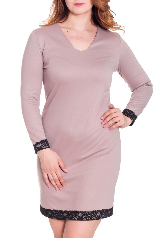 ПлатьеПлатья<br>Красивое платье с V-образной горловиной и длинными рукавами. Модель выполнена из плотного трикотажа. Отличный выбор для повседневного гардероба.  Цвет: бежевый, черный  Рост девушки-фотомодели 180 см.<br><br>Горловина: V- горловина<br>По длине: До колена<br>По материалу: Вискоза,Трикотаж<br>По образу: Город,Свидание<br>По рисунку: Однотонные<br>По сезону: Зима<br>По силуэту: Полуприталенные<br>По стилю: Повседневный стиль<br>По форме: Платье - футляр<br>По элементам: С декором,С манжетами<br>Рукав: Длинный рукав<br>Размер : 42,44,48,50<br>Материал: Джерси<br>Количество в наличии: 4