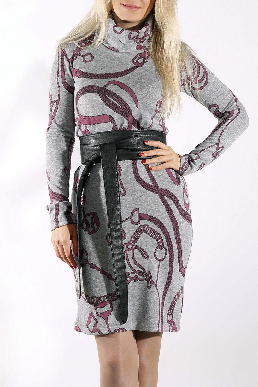 ПлатьеПлатья<br>Удобное женское платье полуприталенного силуэта. Модель выполнена из приятного трикотажа. Прекрасный вариант для повседневного гардероба.  Платье без пояса.  Цвет: серый, розовый  Рост девушки-фотомодели 170 см.<br><br>Воротник: Стойка<br>По материалу: Вискоза,Трикотаж<br>По рисунку: Цветные,С принтом<br>По сезону: Весна,Осень,Зима<br>По силуэту: Приталенные<br>По стилю: Повседневный стиль<br>По форме: Платье - футляр<br>Рукав: Длинный рукав<br>По длине: До колена<br>Размер : 44,46,48,52<br>Материал: Трикотаж<br>Количество в наличии: 5