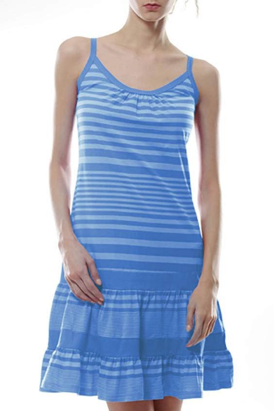 ПлатьеПлатья<br>Трикотажное домашнее платье. Домашняя одежда, прежде всего, должна быть удобной, практичной и красивой. В нашей домашней одежде Вы будете чувствовать себя комфортно, особенно, по вечерам после трудового дня.  Цвет: голубой<br><br>Бретели: Тонкие бретели<br>Горловина: С- горловина<br>По рисунку: В полоску,Цветные<br>По силуэту: Полуприталенные<br>По форме: Платья<br>По сезону: Лето<br>По длине: До колена<br>По материалу: Трикотаж,Хлопок<br>Рукав: Без рукавов<br>Размер : 42,46<br>Материал: Трикотаж<br>Количество в наличии: 8