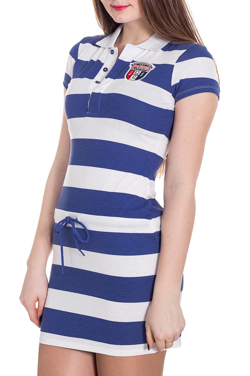 ПлатьеПлатья<br>Чудесное платье в морском стиле. Отличный выбор для любого случая.  Цвет: синий, белый  Рост девушки-фотомодели 183 см<br><br>Воротник: Рубашечный<br>По длине: До колена,Мини<br>По материалу: Вискоза,Трикотаж<br>По рисунку: В полоску,Цветные<br>По силуэту: Приталенные<br>По стилю: Повседневный стиль,Летний стиль,Молодежный стиль,Спортивный стиль<br>Рукав: Короткий рукав<br>По сезону: Лето<br>Размер : 44,48<br>Материал: Трикотаж<br>Количество в наличии: 2
