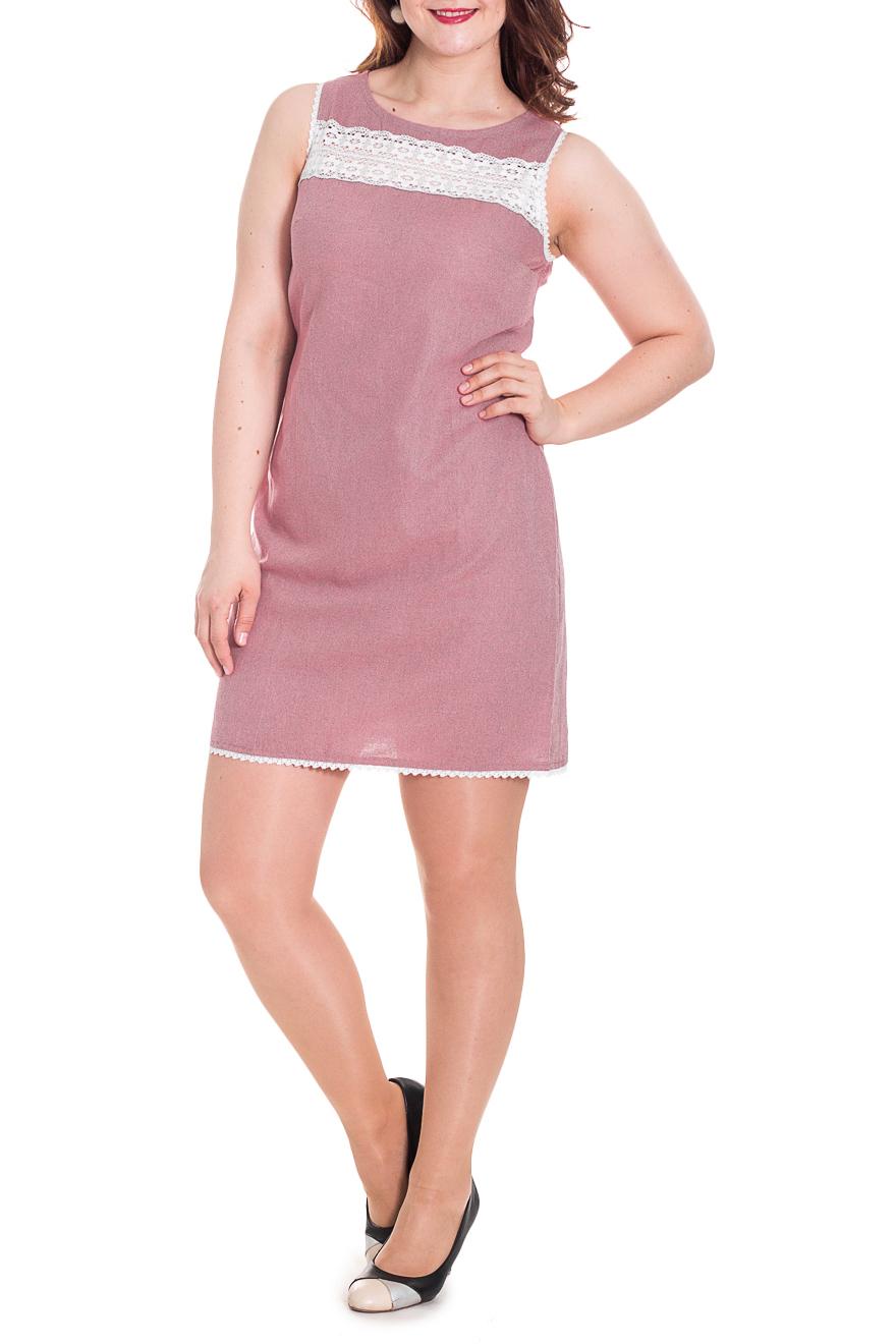 ПлатьеПлатья<br>Летнее женское платье - сарафан полуприталенного силуэта. Выполнено из приятной к телу льняной ткани. Модель украшена декоративной вставкой из кружева.  Цвет: розовый.  Рост девушки-фотомодели 180 см<br><br>Горловина: С- горловина<br>По длине: До колена<br>По материалу: Лен<br>По рисунку: Однотонные<br>По силуэту: Полуприталенные<br>По стилю: Летний стиль,Повседневный стиль,Романтический стиль<br>По элементам: С декором,С завязками,С разрезом<br>Разрез: Короткий<br>Рукав: Без рукавов<br>По сезону: Лето<br>Размер : 54<br>Материал: Лен<br>Количество в наличии: 4
