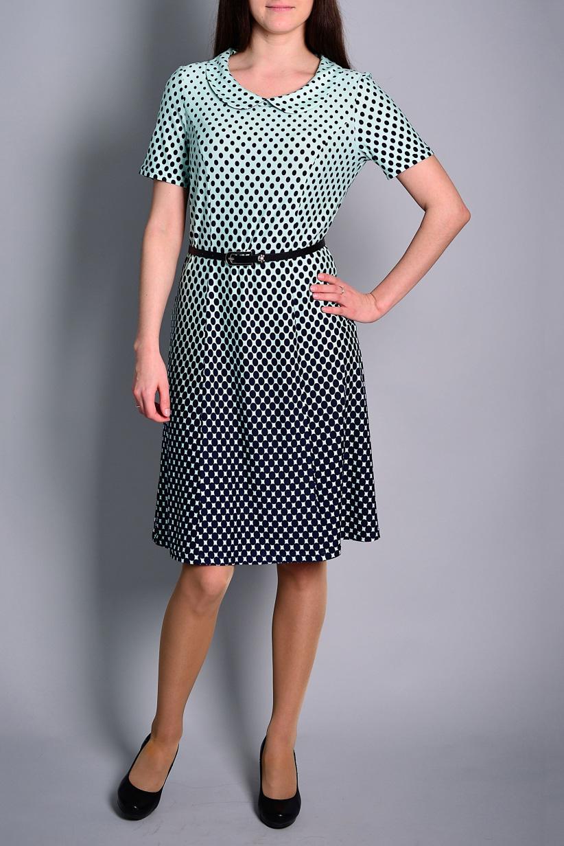 ПлатьеПлатья<br>Цветное платье с короткими рукавами. Модель выполнена из приятного материала. Отличный выбор для повседневного гардероба. Платье без ремня.  В изделии использованы цвета: черный, мятный  Ростовка изделия 170 см.<br><br>Воротник: Отложной<br>Горловина: С- горловина<br>По длине: До колена<br>По материалу: Вискоза<br>По образу: Город,Свидание<br>По рисунку: С принтом,Цветные<br>По силуэту: Приталенные<br>По стилю: Повседневный стиль<br>По форме: Платье - трапеция<br>Рукав: Короткий рукав<br>По сезону: Лето<br>Размер : 44,46,50<br>Материал: Вискоза<br>Количество в наличии: 3