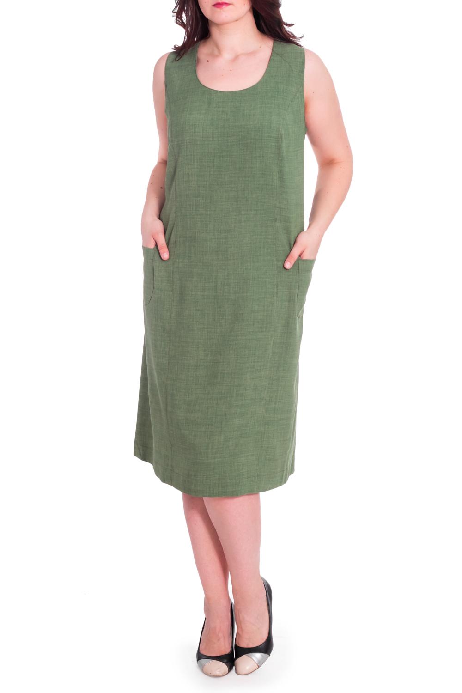 СарафанСарафаны<br>Однотонное платье прямого силуэта с круглой горловиной и карманами. Модель выполнена из приятного материала. Отличный выбор для летнего гардероба.  В изделии использованы цвета: зеленый  Рост девушки-фотомодели 180 см<br><br>Бретели: Широкие бретели<br>Горловина: С- горловина<br>По длине: Ниже колена<br>По материалу: Тканевые<br>По рисунку: Однотонные<br>По силуэту: Прямые<br>По стилю: Летний стиль,Повседневный стиль<br>По элементам: С карманами<br>Рукав: Без рукавов<br>По сезону: Лето<br>Размер : 62,64<br>Материал: Плательная ткань<br>Количество в наличии: 3