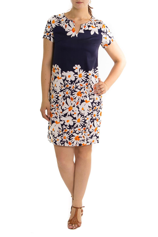 ПлатьеПлатья<br>Хлопковое летнее платье с цветочным принтом.<br><br>По рисунку: Растительные мотивы,Цветные,Цветочные,С принтом<br>По сезону: Лето<br>По силуэту: Полуприталенные<br>Рукав: Короткий рукав<br>По форме: Платье - футляр<br>По материалу: Хлопок<br>По стилю: Повседневный стиль,Летний стиль<br>По длине: До колена<br>Горловина: Фигурная горловина<br>Размер : 46<br>Материал: Хлопок<br>Количество в наличии: 1