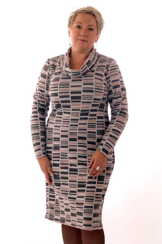 ПлатьеПлатья<br>Удобное женское платье полуприталенного силуэта. Модель выполнена из приятного трикотажа. Прекрасный вариант для повседневного гардероба.   Цвет: бежевый, серый  Рост девушки-фотомодели 164 см.<br><br>По образу: Город,Свидание<br>По стилю: Повседневный стиль<br>По материалу: Вискоза,Трикотаж<br>По рисунку: Абстракция,Цветные<br>По сезону: Весна,Осень<br>По силуэту: Приталенные<br>По форме: Платье - футляр<br>По длине: Ниже колена<br>Воротник: Хомут<br>Рукав: Длинный рукав<br>Размер: 52,54<br>Материал: 80% вискоза 15% полиэстер 5% эластан<br>Количество в наличии: 1