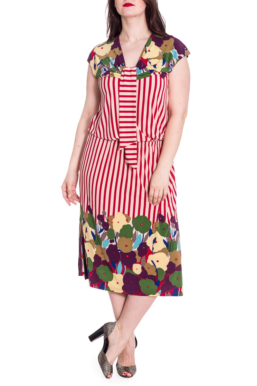 ПлатьеПлатья<br>Великолепное платье с ярким принтом. Модель выполнена из приятного материала. Отличный выбор для любого случая.  Цвет: желтый, красный, мультицвет  Рост девушки-фотомодели 180 см.<br><br>По материалу: Вискоза,Трикотаж<br>По рисунку: В полоску,Растительные мотивы,С принтом,Цветные,Цветочные<br>По силуэту: Полуприталенные<br>По стилю: Повседневный стиль,Летний стиль<br>Рукав: Короткий рукав<br>По сезону: Лето<br>Горловина: V- горловина<br>По длине: Миди,Ниже колена<br>Размер : 54,60<br>Материал: Холодное масло<br>Количество в наличии: 3