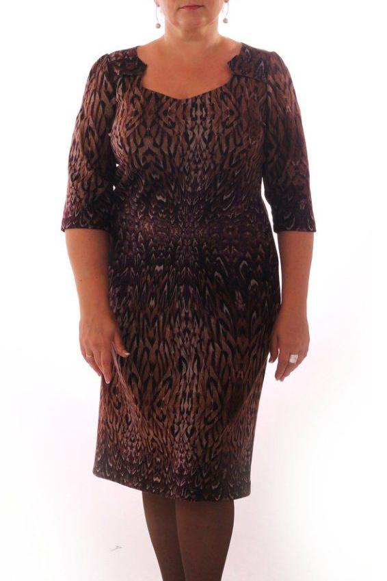 ПлатьеПлатья<br>Красивое женское платье с фигурной горловиной и рукавами 3/4. Модель выполнена из приятного трикотажа. Отличный выбор для повседневного гардероба.  Цвет: мультицвет  Рост девушки-фотомодели 164 см.<br><br>По длине: Ниже колена<br>По материалу: Трикотаж<br>По образу: Город,Свидание<br>По рисунку: Абстракция,Цветные,С принтом<br>По сезону: Весна,Осень<br>По стилю: Повседневный стиль<br>По форме: Платье - футляр<br>Рукав: Рукав три четверти<br>Горловина: Фигурная горловина<br>По силуэту: Приталенные<br>Размер : 48,50,52<br>Материал: Трикотаж<br>Количество в наличии: 17