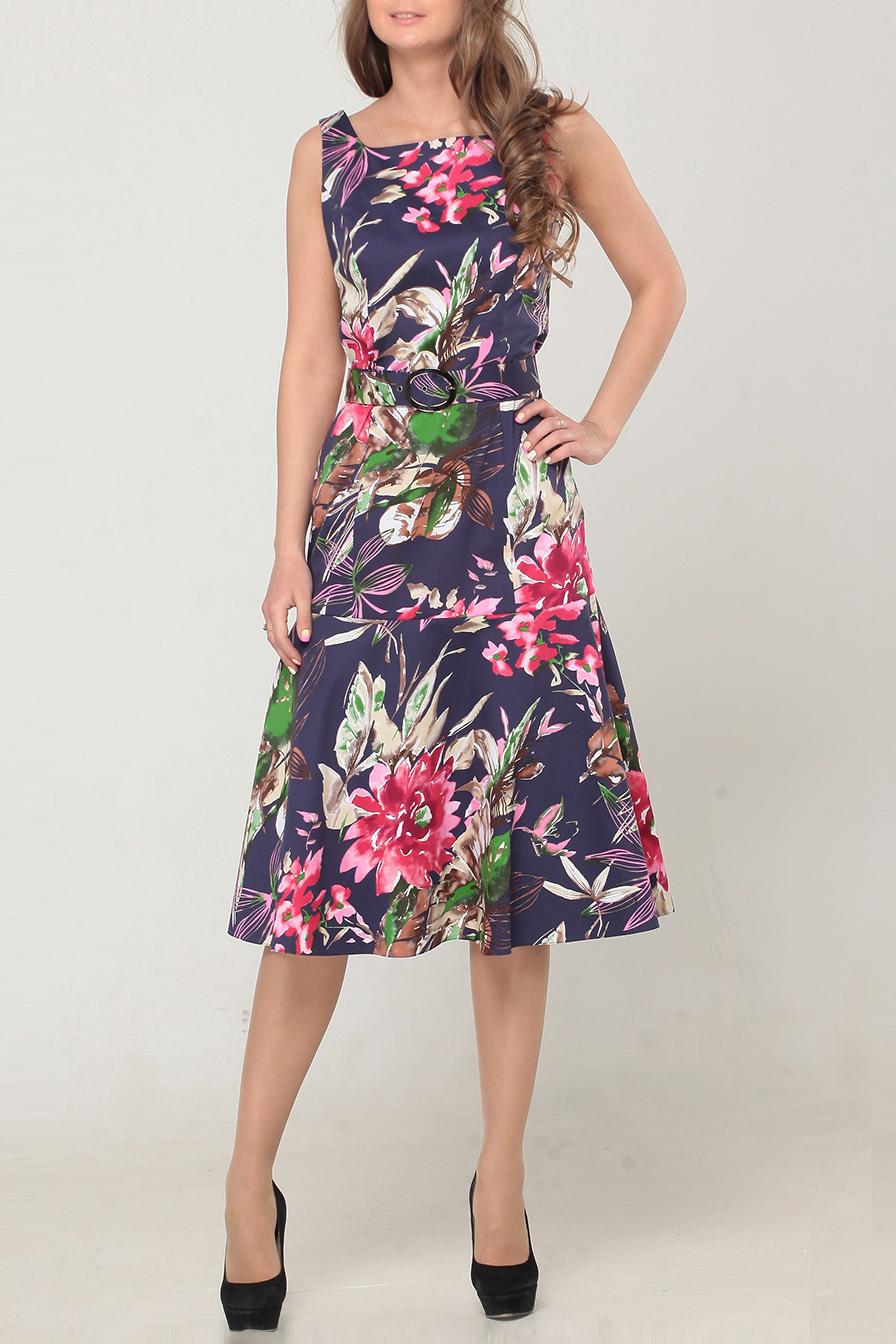 ПлатьеПлатья<br>Женское платье без рукавов с элегантной горловиной. Модель выполнена из хлопкового материала с цветочным принтом. Отличный выбор для повседневного гардероба. Платье с поясом.  Цвет: фиолетовый, розовый, зеленый, бежевый<br><br>По образу: Город,Свидание<br>По стилю: Повседневный стиль<br>По материалу: Хлопок<br>По рисунку: Цветочные,Растительные мотивы,Цветные<br>По сезону: Лето<br>По силуэту: Полуприталенные<br>По элементам: С поясом<br>По длине: Ниже колена<br>Рукав: Без рукавов<br>Горловина: Квадратная горловина<br>Размер: 44,46,48,50<br>Материал: None<br>Количество в наличии: 2