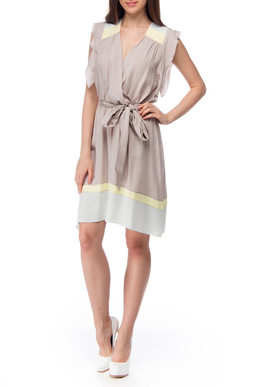 ПлатьеПлатья<br>Стильное платье без рукавов. Модель выполнена из приятного материала. Отличный выбор для любого случая.Платье без пояса.Цвет: бежевый, белый, желтыйРостовка изделия 170 см.<br><br>Горловина: V- горловина,Запах<br>Рукав: Без рукавов<br>Длина: До колена<br>Материал: Вискоза<br>Рисунок: Цветные<br>Сезон: Лето<br>Силуэт: Полуприталенные<br>Стиль: Кэжуал,Повседневный стиль<br>Размер : 46<br>Материал: Вискоза<br>Количество в наличии: 1