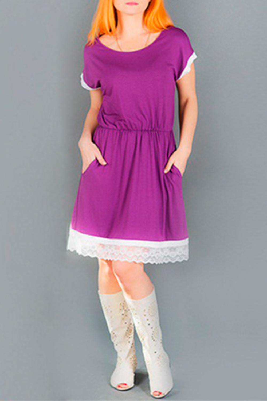 ПлатьеПлатья<br>Элегантное женственное платье для прекрасных дам. Модель твыполнена из приятного материала. Отличный выбор для повседневного гардероба.  Цвет: фиолетовый, белый<br><br>Горловина: С- горловина<br>По длине: До колена<br>По материалу: Вискоза,Трикотаж<br>По образу: Свидание<br>По рисунку: Однотонные<br>По силуэту: Полуприталенные<br>По стилю: Повседневный стиль<br>По элементам: С декором,С карманами,С фигурным низом<br>Рукав: Короткий рукав<br>По форме: Платье - трапеция<br>По сезону: Лето<br>Размер : 48,54<br>Материал: Трикотаж<br>Количество в наличии: 2