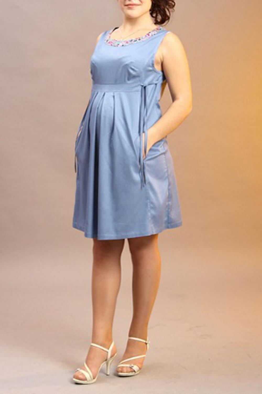 ПлатьеПлатья<br>Женское платье без рукавов с круглой горловиной. Модель выполнена из приятного материала. Отличный выбор для повседневного и делового гардероба.  За счет свободного кроя и эластичного материала изделие можно носить во время беременности  Цвет: голубой<br><br>Горловина: С- горловина<br>По образу: Город,Свидание<br>По рисунку: Однотонные<br>По сезону: Весна,Лето<br>По силуэту: Полуприталенные<br>По материалу: Хлопок<br>По стилю: Молодежный стиль,Повседневный стиль<br>Рукав: Без рукавов<br>По длине: До колена<br>По элементам: С завышенной талией,С карманами,Со складками<br>Размер : 46,48<br>Материал: Хлопок<br>Количество в наличии: 2