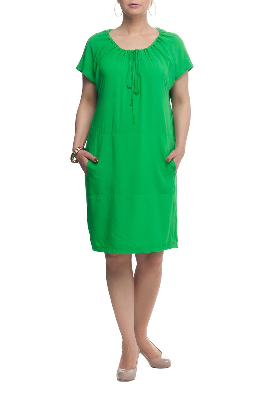 ПлатьеПлатья<br>Красивое платье с круглой горловиной и короткими рукавами. Модель выполнена из приятного материала. Отличный выбор для повседневного гардероба.  Цвет: зеленый  Рост девушки-фотомодели 173 см<br><br>Горловина: С- горловина<br>По длине: Ниже колена<br>По материалу: Вискоза,Тканевые<br>По рисунку: Однотонные<br>По силуэту: Полуприталенные<br>По стилю: Повседневный стиль<br>По элементам: С карманами<br>Рукав: Короткий рукав<br>По сезону: Лето<br>Размер : 56,58,62,66<br>Материал: Плательная ткань<br>Количество в наличии: 8
