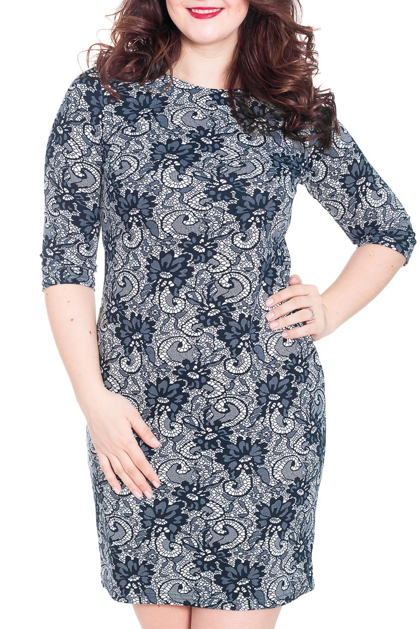 ПлатьеПлатья<br>Изысканное женское платье приталенного силуэта. Отличный вариант для создания Вашего образа. Длина рукава 3/4. Цвет: синий, серый и др.  Рост девушки-фотомодели 180 см  Длина изделия в 52 размере 102 см.<br><br>По длине: До колена<br>По материалу: Трикотаж<br>По рисунку: С принтом,Цветные<br>По сезону: Весна,Осень,Зима<br>По силуэту: Приталенные<br>По стилю: Повседневный стиль<br>По форме: Платье - футляр<br>Рукав: Рукав три четверти<br>Горловина: С- горловина<br>Размер : 48,52,54<br>Материал: Джерси<br>Количество в наличии: 4