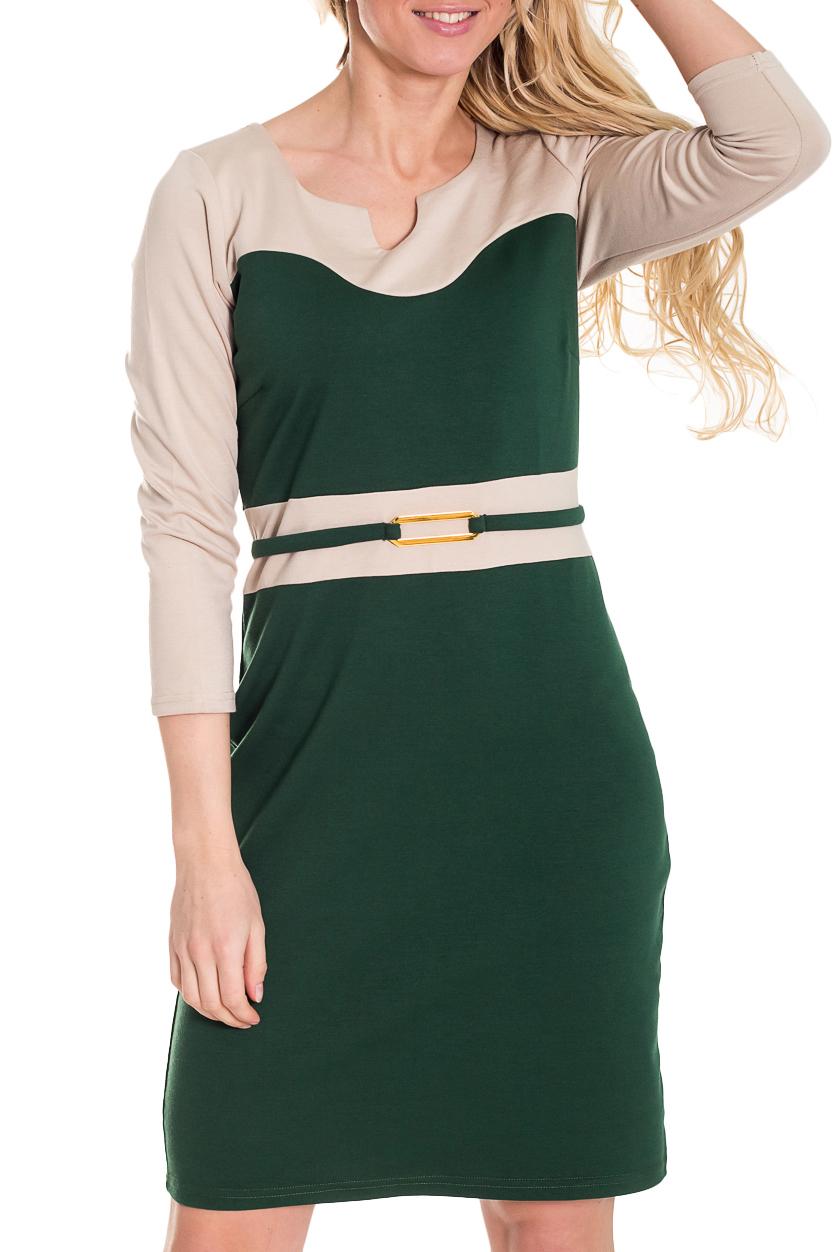 ПлатьеПлатья<br>Элегантное женское платье из мягкого трикотажа. Отличный выбор для любого случая.  Цвет: зеленый, бежевый  Рост девушки-фотомодели 170 см<br><br>Горловина: С- горловина<br>По длине: До колена<br>По материалу: Вискоза,Трикотаж<br>По образу: Город,Офис,Свидание<br>По рисунку: Цветные<br>По сезону: Весна,Осень,Зима<br>По силуэту: Приталенные<br>По стилю: Офисный стиль,Повседневный стиль<br>По форме: Платье - футляр<br>По элементам: С декором<br>Рукав: Рукав три четверти<br>Размер : 50,52,54<br>Материал: Джерси<br>Количество в наличии: 4