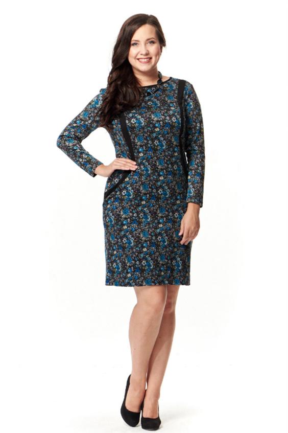 ПлатьеПлатья<br>Чудное платье с круглой горловиной и длинными рукавами. Модель выполнена из приятного трикотажа. Отличный выбор для любого случая.Цвет: серый, синий, голубойРост девушки-фотомодели 172 см<br><br>Горловина: С- горловина<br>Рукав: Длинный рукав<br>Длина: До колена<br>Материал: Вискоза,Трикотаж<br>Рисунок: Растительные мотивы,Цветные,Цветочные,С принтом<br>Сезон: Зима,Осень<br>Силуэт: Полуприталенные<br>Стиль: Повседневный стиль<br>Форма: Платье - футляр<br>Элементы: С карманами<br>Размер : 48,50,52<br>Материал: Трикотаж<br>Количество в наличии: 6