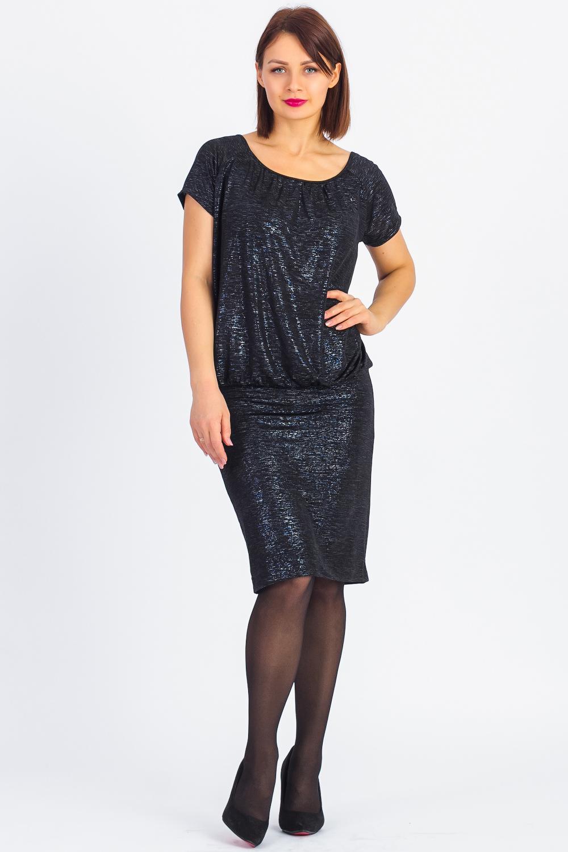 ПлатьеПлатья<br>Атмосферное платье в стиле quot;дискоquot; из блестящего трикотажа Открытая спина, нить-застежка из россыпи страз, отличная посадка по фигуре - вот секрет твоего успеха Платье с открытой спиной на запахе, силуэт верха свободного кроя, пояс-юбка притачной по фигуре.  В изделии использованы цвета: черный с люрексом  Ростовка изделия 170 см.<br><br>Горловина: С- горловина<br>По длине: До колена<br>По материалу: Вискоза<br>По рисунку: Цветные<br>По сезону: Весна,Зима,Лето,Осень,Всесезон<br>По силуэту: Полуприталенные<br>По стилю: Нарядный стиль<br>По элементам: С декором,С открытой спиной<br>Рукав: Короткий рукав<br>Размер : 42,44,46,48<br>Материал: Вискоза<br>Количество в наличии: 4
