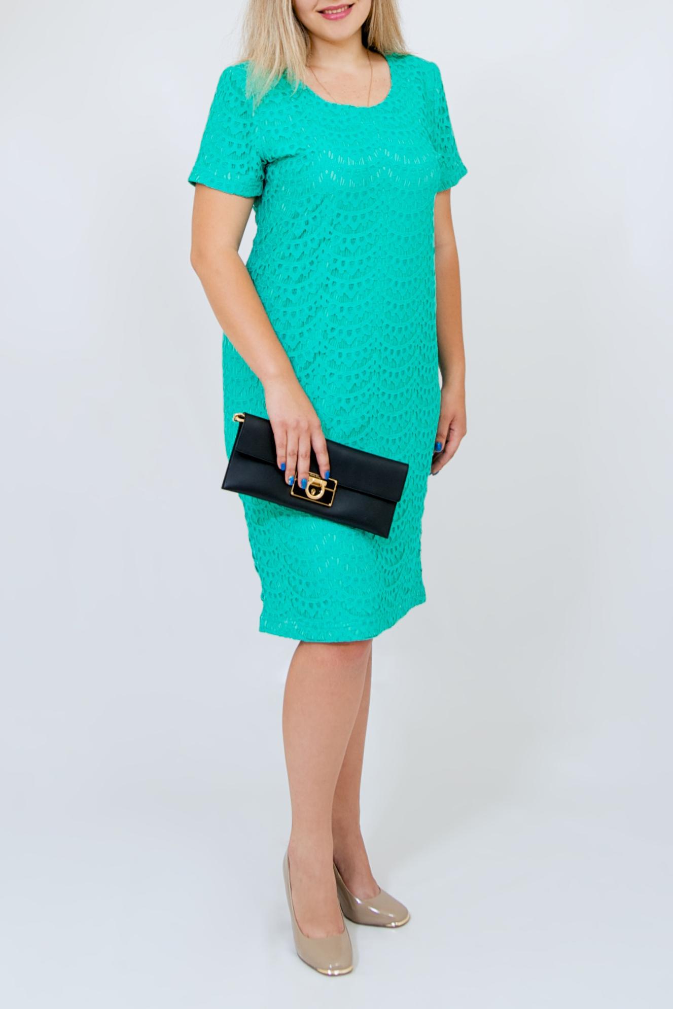 ПлатьеПлатья<br>Нарядное платье с короткими рукавами. Модель выполнена из ажурного гипюра на подкладе. Отличный выбор для любого торжества.   Цвет: бирюзовый  Рост девушки-фотомодели 170 см.<br><br>Горловина: С- горловина<br>По длине: Ниже колена<br>По материалу: Гипюр<br>По рисунку: Однотонные,Фактурный рисунок<br>По сезону: Весна,Зима,Лето,Осень,Всесезон<br>По силуэту: Полуприталенные<br>По стилю: Нарядный стиль<br>По форме: Платье - футляр<br>Рукав: Короткий рукав<br>Размер : 44-46,48-50,58-62,64-68<br>Материал: Гипюр<br>Количество в наличии: 5