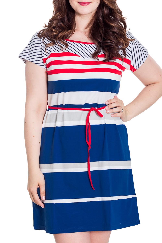 ПлатьеПлатья<br>Домашнее платье из хлопкового материала. Домашняя одежда, прежде всего, должна быть удобной, практичной и красивой. В наших изделиях Вы будете чувствовать себя комфортно, особенно, по вечерам после трудового дня.  Цвет: синий, белый, красный  Рост девушки-фотомодели 180 см<br><br>Горловина: С- горловина<br>По рисунку: В полоску,Цветные,С принтом<br>По сезону: Весна,Зима,Лето,Осень,Всесезон<br>По силуэту: Полуприталенные<br>Рукав: Короткий рукав<br>По длине: До колена<br>По материалу: Трикотаж,Хлопок<br>По форме: Домашние платья<br>Размер : 48,50,52,56<br>Материал: Трикотаж<br>Количество в наличии: 4