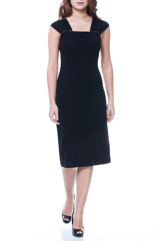 ПлатьеПлатья<br>Красивое женское платье с квадратной горловиной. Модель выполнена из однотонной вискозы. Отличный выбор для повседневного гардероба.  Цвет: черный  Ростовка изделия 170 см.<br><br>Горловина: Квадратная горловина<br>По длине: Ниже колена<br>По материалу: Вискоза,Трикотаж<br>По рисунку: Однотонные<br>По силуэту: Полуприталенные<br>По стилю: Повседневный стиль<br>По форме: Платье - футляр<br>Рукав: Короткий рукав<br>По сезону: Осень,Весна<br>Размер : 44,46<br>Материал: Вискоза<br>Количество в наличии: 2