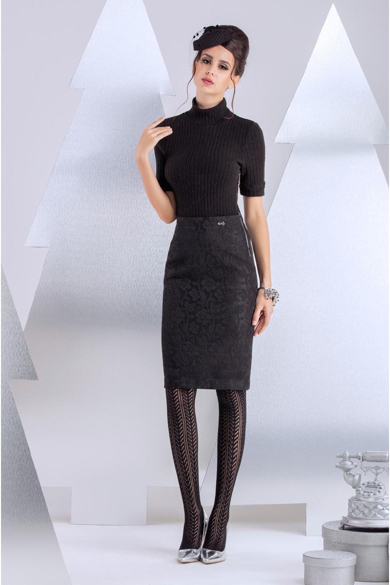 ПлатьеПлатья<br>Платье-комплект из разных фактур. Верх выполнен из эластичной вискозы в рубчик, низ из техно-кружева с цветочным мотивом. Ультра-модное сочетание фактур и сдержанные цвета превращают модель в маст-хэв любого гардероба. Рукав короткий 28 см, длина изделия от талии 60 см (для размера 44)  В изделии использованы цвета: черный  Рост девушки-фотомодели 172 см.<br><br>Воротник: Стойка<br>По длине: До колена<br>По материалу: Гипюр,Трикотаж<br>По рисунку: Однотонные<br>По сезону: Зима,Осень,Весна<br>По силуэту: Приталенные<br>По стилю: Офисный стиль,Повседневный стиль<br>По форме: Платье - футляр<br>Рукав: До локтя<br>Размер : 42<br>Материал: Трикотаж + Гипюр<br>Количество в наличии: 2