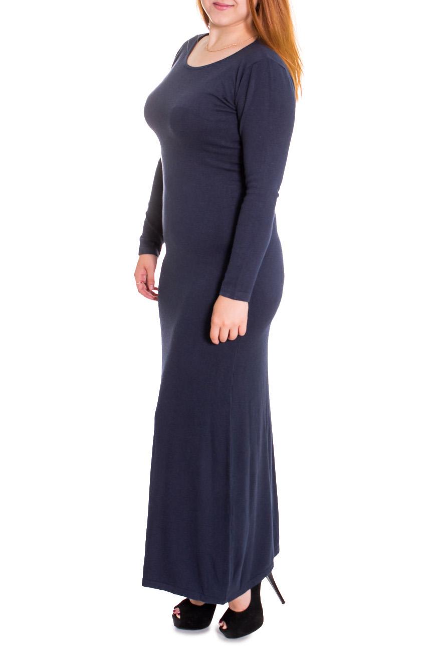 ПлатьеПлатья<br>Женское платье с длинными рукавами. Модель выполнена из вязаного трикотажа. Вязаный трикотаж - это красота, тепло и комфорт. В вязаных вещах очень легко оставаться женственной и в то же время не замёрзнуть.  Цвет: синий  Рост девушки-фотомодели 169 см.<br><br>Горловина: С- горловина<br>По длине: Макси<br>По материалу: Вязаные,Трикотаж<br>По образу: Город,Свидание<br>По сезону: Зима<br>По силуэту: Полуприталенные<br>По стилю: Повседневный стиль<br>Рукав: Длинный рукав<br>По рисунку: Однотонные<br>Размер : 42,44,46,48<br>Материал: Вязаное полотно<br>Количество в наличии: 13