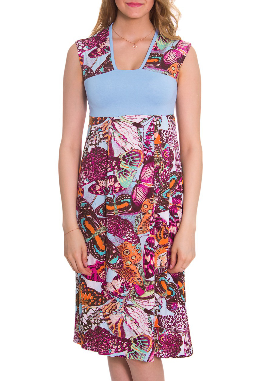ПлатьеПлатья<br>Женское домашнее платье без рукавов. Домашняя одежда, прежде всего, должна быть удобной, практичной и красивой. В платье Вы будете чувствовать себя комфортно, особенно, по вечерам после трудового дня.  Цвет: розовый, голубой  Рост девушки-фотомодели 176 см.<br><br>Горловина: V- горловина<br>По материалу: Вискоза,Трикотаж<br>По рисунку: Бабочки,Цветные,С принтом<br>По сезону: Лето<br>По силуэту: Полуприталенные<br>По форме: Платья<br>По длине: До колена<br>Рукав: Без рукавов<br>Размер : 46,48,50,52,54,56,58,60,62<br>Материал: Вискоза<br>Количество в наличии: 9
