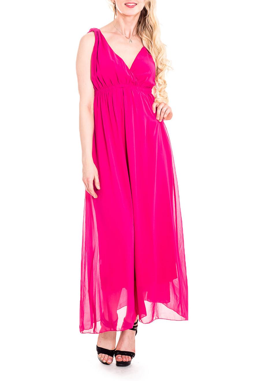 СарафанСарафаны<br>Чувственный, летний сарафан из легкого шифона и трикотажа с завышенной линией талии. Длинное платье стройнит, преображает фигуру, зрительно делает ее более пропорциональной и легкой.  Цвет: розовый  Рост девушки-фотомодели 170 см<br><br>Бретели: Широкие бретели<br>Горловина: V- горловина<br>По длине: Макси<br>По материалу: Трикотаж,Шифон<br>По рисунку: Однотонные<br>По сезону: Весна,Зима,Лето,Осень,Всесезон<br>По силуэту: Полуприталенные<br>По стилю: Греческий стиль,Нарядный стиль<br>По элементам: С открытой спиной,Со складками<br>Рукав: Без рукавов<br>Размер : 42,44,46,48<br>Материал: Трикотаж + Шифон<br>Количество в наличии: 4
