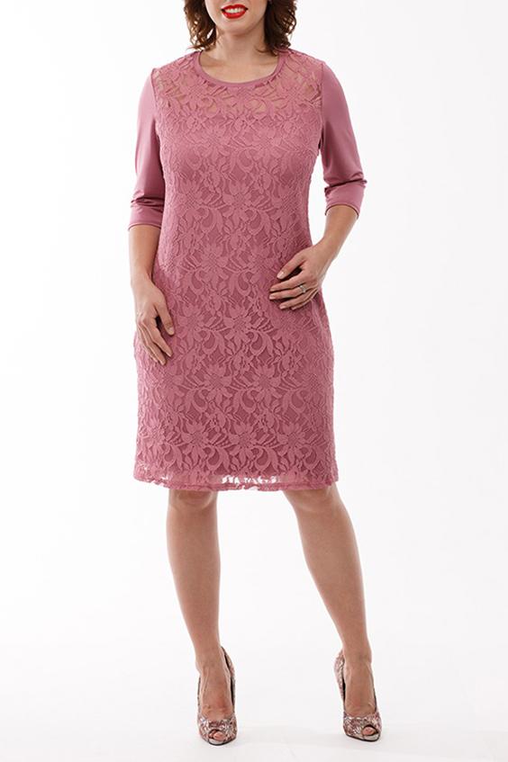 ПлатьеПлатья<br>Платье из гипюра для торжественных случаев. Полуприлегающего силуэта, на подкладе  от уровня кокетки низ изделия двухуровневый. Вырез круглый, рукав втачной 3/4, выполнен из трикотажного полотна - копманьона.   Длина изделия размеры 50-56 - 97 см, размеры 58-60 - 99 см  В изделии использованы цвета: розовый  Рост девушки-фотомодели 168 см<br><br>Горловина: С- горловина<br>По длине: До колена<br>По материалу: Гипюр,Трикотаж<br>По рисунку: Однотонные<br>По сезону: Весна,Зима,Лето,Осень,Всесезон<br>По силуэту: Приталенные<br>По стилю: Нарядный стиль,Повседневный стиль,Романтический стиль,Вечерний стиль<br>По форме: Платье - футляр<br>Рукав: Рукав три четверти<br>Размер : 50,52,54,56,58<br>Материал: Холодное масло + Гипюр<br>Количество в наличии: 8