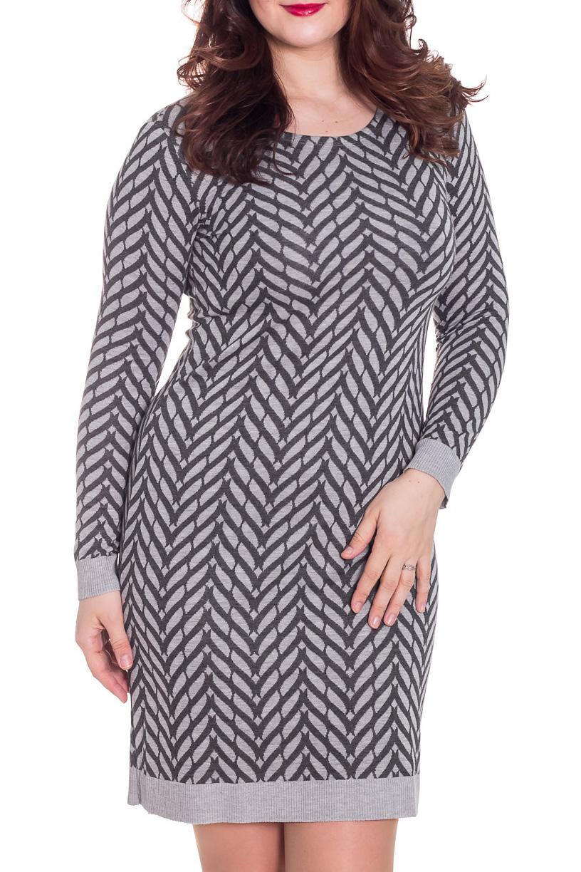 ПлатьеПлатья<br>Великолепное платье с круглой горловиной и длинными рукавами. Модель выполнена из приятного материала. Отличный выбор для повседневного гардероба.  Цвет: серый  Рост девушки-фотомодели 180 см<br><br>Горловина: С- горловина<br>По материалу: Вискоза,Трикотаж<br>По образу: Город<br>По рисунку: С принтом,Цветные<br>По сезону: Весна,Осень<br>По силуэту: Приталенные<br>По стилю: Повседневный стиль<br>По форме: Платье - футляр<br>Рукав: Длинный рукав<br>По длине: До колена<br>Размер : 48,50,54<br>Материал: Трикотаж<br>Количество в наличии: 4