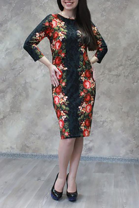 ПлатьеПлатья<br>Красивое платье с контрастным цветочным рисунком. Модель выполнена из приятного материала. Побалуйте себя этой великолепной покупкой  Цвет: черный, красный и др.  Ростовка изделия 170 см<br><br>Горловина: С- горловина<br>По длине: Ниже колена<br>По материалу: Тканевые<br>По рисунку: Растительные мотивы,С принтом,Цветные,Цветочные<br>По сезону: Зима,Осень,Весна<br>По силуэту: Приталенные<br>По стилю: Нарядный стиль,Повседневный стиль<br>По форме: Платье - футляр<br>По элементам: С разрезом<br>Рукав: Рукав три четверти<br>Разрез: Короткий,Шлица<br>Размер : 44,48,50,52,54,56,58<br>Материал: Плательная ткань<br>Количество в наличии: 15