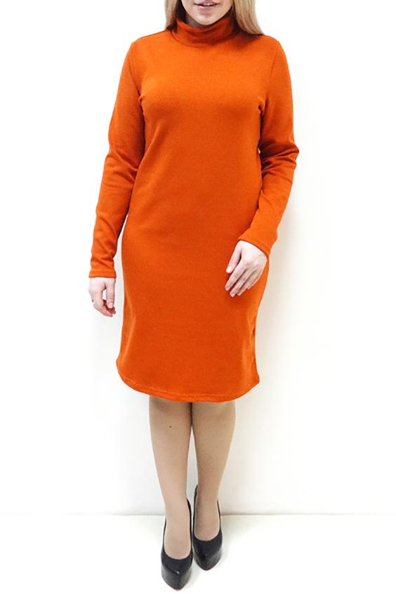 ПлатьеПлатья<br>Однотонное платье с воротником стойка и длинными рукавами. Модель выполнена из приятного трикотажа. Отличный выбор для повседневного гардероба.  Цвет: оранжевый  Рост девушки-фотомодели 162 см<br><br>Воротник: Стойка<br>По длине: Ниже колена<br>По материалу: Трикотаж<br>По рисунку: Однотонные<br>По силуэту: Полуприталенные,Приталенные<br>По стилю: Повседневный стиль,Кэжуал<br>По форме: Платье - футляр,Платье - карандаш<br>Рукав: Длинный рукав<br>По сезону: Осень,Весна,Зима<br>По элементам: С воротником<br>Размер : 46,48,52,54,56<br>Материал: Трикотаж<br>Количество в наличии: 6
