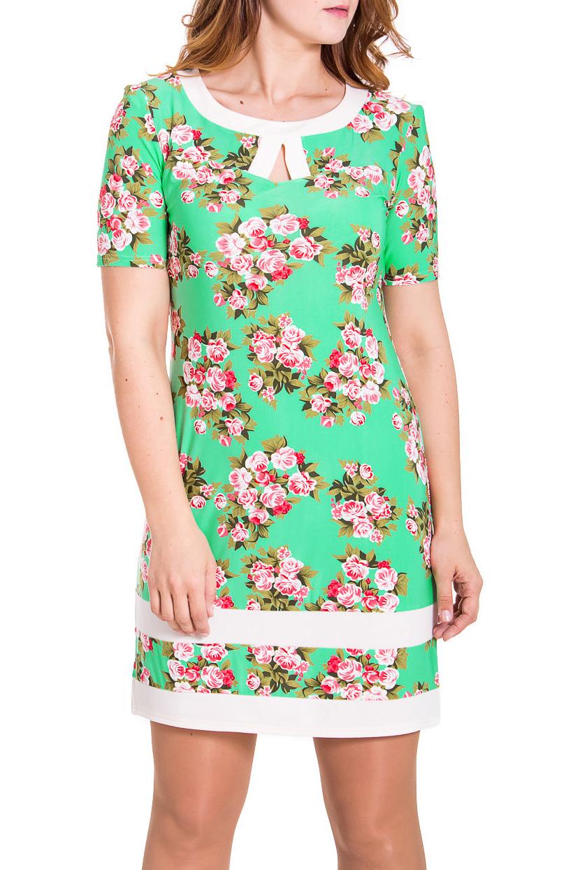 ПлатьеПлатья<br>Эффектное женское платье с короткими рукавами. Модель выполнена из мягкого трикотажа. Отличный вариант для повседневного гардероба.  Цвет: зеленый, белый, розовый  Рост девушки-фотомодели 180 см<br><br>Горловина: С- горловина<br>По длине: До колена<br>По материалу: Вискоза,Трикотаж<br>По рисунку: Растительные мотивы,Цветные,Цветочные,С принтом<br>По силуэту: Полуприталенные<br>По стилю: Повседневный стиль<br>По элементам: С разрезом<br>Разрез: Короткий<br>Рукав: Короткий рукав<br>По сезону: Осень,Весна<br>По форме: Платье - футляр<br>Размер : 48,50,52,56<br>Материал: Холодное масло<br>Количество в наличии: 4