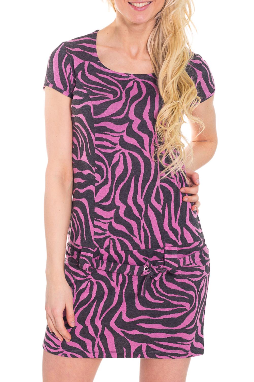ПлатьеПлатья<br>Красивое платье с короткими рукавами. Модель выполнена из приятного трикотажа. Отличный выбор для повседневного гардероба.  Цвет: серый, розовый  Рост девушки-фотомодели 170 см<br><br>Горловина: С- горловина<br>По длине: До колена<br>По материалу: Вискоза,Трикотаж<br>По рисунку: Зебра,С принтом,Цветные<br>По силуэту: Приталенные<br>По стилю: Повседневный стиль<br>По форме: Платье - футляр<br>Рукав: Короткий рукав<br>По сезону: Весна,Лето<br>Размер : 46<br>Материал: Трикотаж<br>Количество в наличии: 1