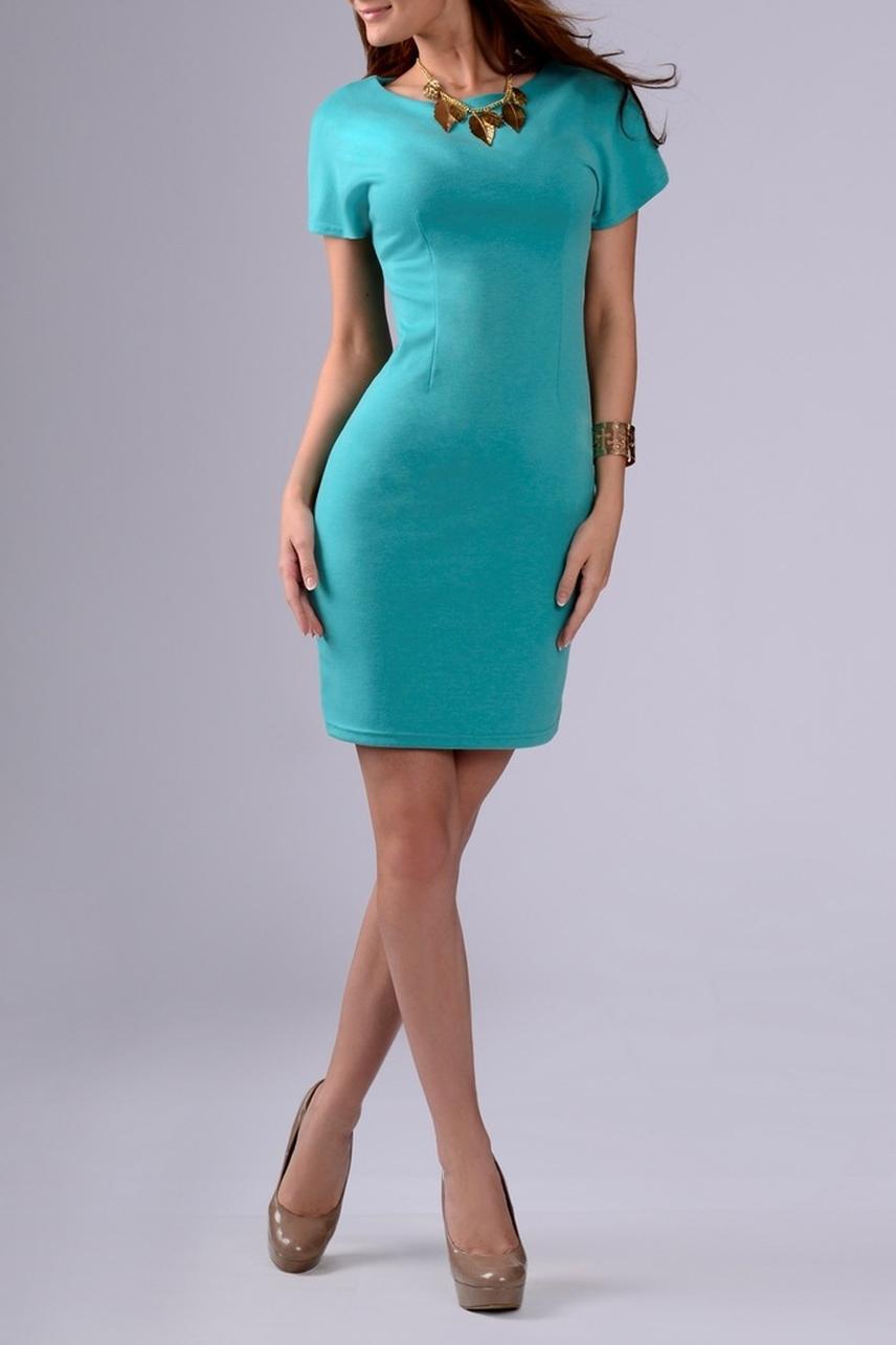ПлатьеПлатья<br>Классическое женское платье с короткими рукавами и округлой горловиной. Изделие станет стильным дополнением к Вашему повседневному гардеробу.  Цвет: бирюзовый.  Рост девушки-фотомодели 170 см<br><br>Горловина: С- горловина<br>По длине: До колена<br>По материалу: Трикотаж<br>По рисунку: Однотонные<br>По сезону: Весна,Осень<br>По силуэту: Приталенные<br>По стилю: Классический стиль,Кэжуал,Офисный стиль,Повседневный стиль<br>По форме: Платье - футляр<br>Рукав: Короткий рукав<br>Размер : 46<br>Материал: Джерси<br>Количество в наличии: 1
