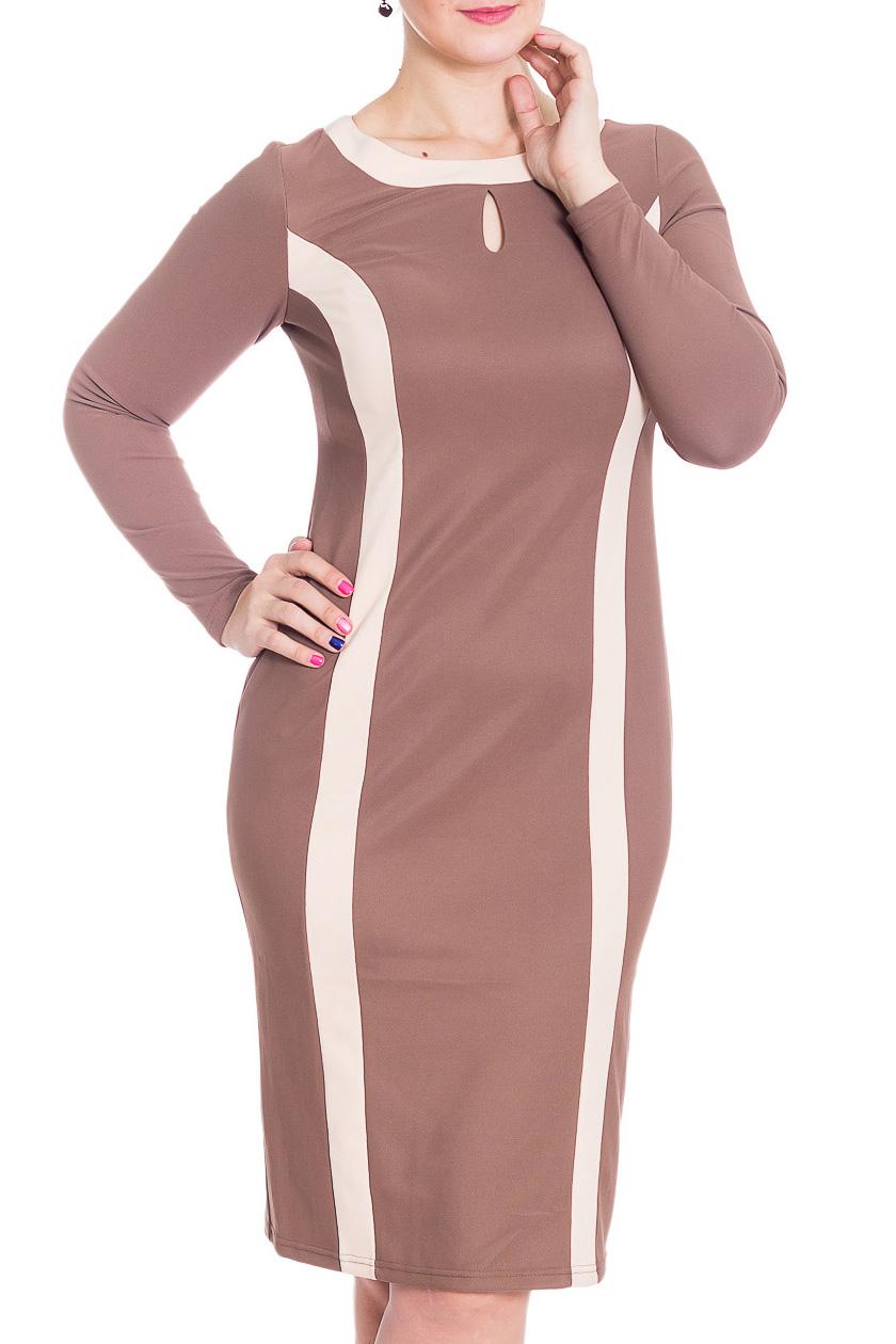 ПлатьеПлатья<br>Чудесное платье с вертикальными вставками, которые зрительно вытягивают силуэт. Модель выполнена из приятного трикотажа. Отличный выбор для повседневного гардероба.  В изделии использованы цвета: бежевый, молочный  Рост девушки-фотомодели 180 см<br><br>Горловина: С- горловина<br>По длине: Ниже колена<br>По материалу: Трикотаж<br>По рисунку: Цветные<br>По силуэту: Приталенные<br>По стилю: Повседневный стиль<br>По форме: Платье - футляр<br>Рукав: Длинный рукав<br>По сезону: Осень,Весна,Зима<br>Размер : 46,48,50,52,54,56,60<br>Материал: Трикотаж<br>Количество в наличии: 7