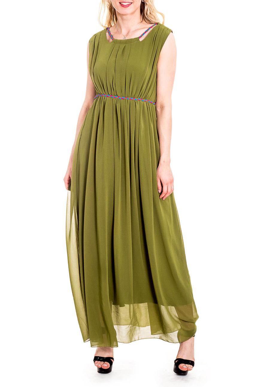 СарафанСарафаны<br>Чувственный, летний сарафан из легкого шифона и трикотажа с завышенной линией талии. Длинное платье стройнит, преображает фигуру, зрительно делает ее более пропорциональной и легкой.  Цвет: зеленый  Рост девушки-фотомодели 170 см<br><br>Бретели: Широкие бретели<br>По длине: Макси<br>По материалу: Трикотаж,Шифон<br>По образу: Свидание<br>По рисунку: Однотонные<br>По сезону: Весна,Зима,Лето,Осень,Всесезон<br>По силуэту: Полуприталенные<br>По стилю: Греческий стиль,Нарядный стиль<br>По элементам: Со складками<br>Рукав: Без рукавов<br>Горловина: С- горловина<br>Размер : 44<br>Материал: Трикотаж + Шифон<br>Количество в наличии: 1