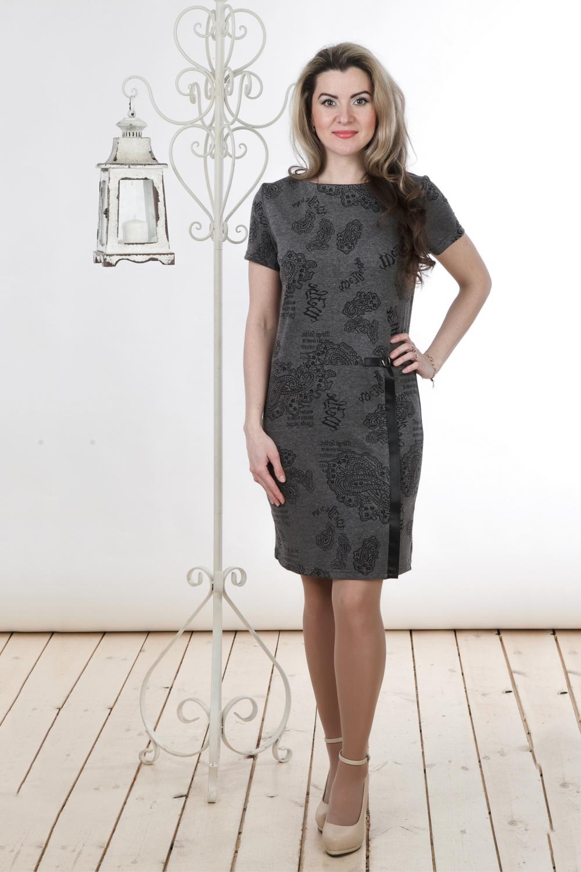 ПлатьеПлатья<br>Великолепное платье с круглым вырезом горловины и короткими рукавами. Модель выполнена из приятного трикотажа. Отличный выбор для повседневного гардероба.  Цвет: серый, черный  Длина изделия: 46 размер - 88 см 48 размер - 89 см 50 размер - 90 см 52 размер - 91 см 54 размер - 92 см 56 размер - 93 см  Длина рукава 18 см   Рост девушки-фотомодели 163 см<br><br>Горловина: С- горловина<br>По длине: До колена<br>По материалу: Вискоза,Трикотаж<br>По рисунку: С принтом,Цветные,Этнические<br>По силуэту: Полуприталенные<br>По стилю: Повседневный стиль<br>По форме: Платье - футляр<br>По элементам: С декором<br>Рукав: Короткий рукав<br>По сезону: Осень,Весна<br>Размер : 46,48,52<br>Материал: Трикотаж<br>Количество в наличии: 4